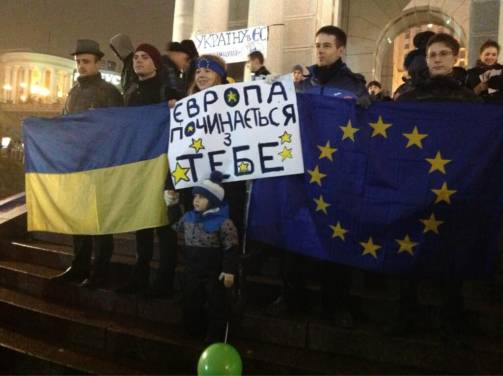 Ветераны ВМФ Украины поддержали Евромайдан в Киеве