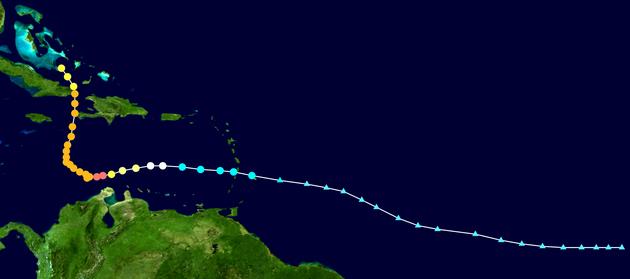 Ураган Мэтью усилился с приближением к побережью США: карта