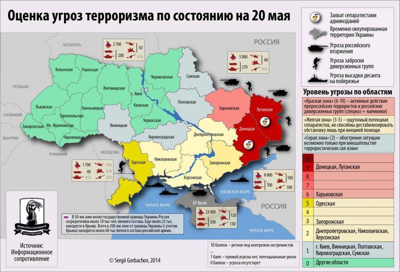 Оценка угроз терроризма в Украине: инфографика