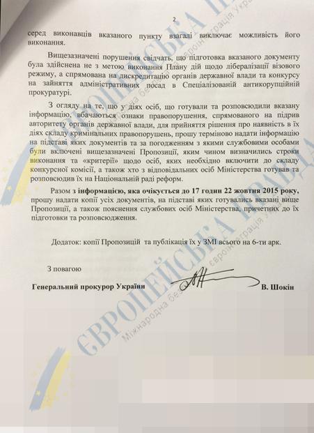 Шокин отказался выполнять требования ЕС и пригрозил МИД - СМИ