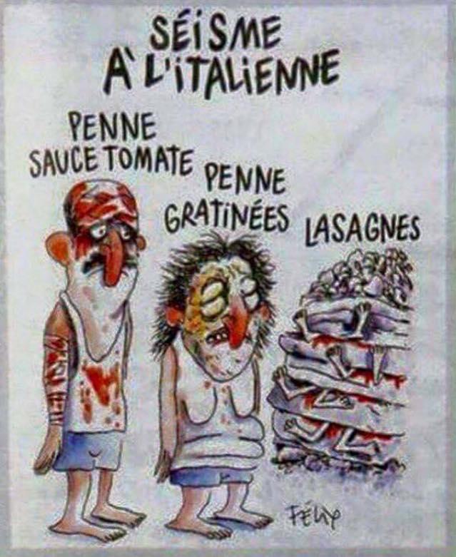 На Charlie Hebdo подали иск за карикатуры на жертв землетрясения