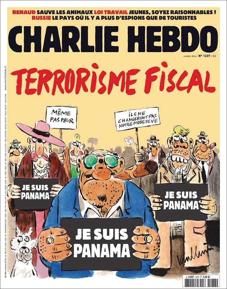 Журнал Charlie Hebdo показал карикатуру на офшорный скандал: фото