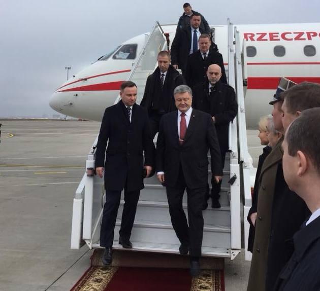 Порошенко и Дуда в Харькове обсуждают войну с Россией