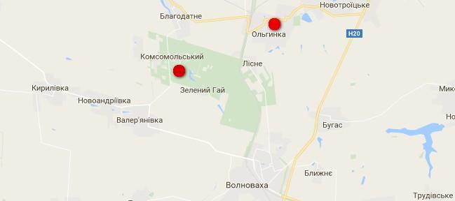 Оккупанты обстреляли из пушек тыл ВСУ под Волновахой - карта боев