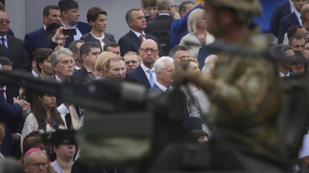 Яценюк принял участие в торжествах ко Дню Независимости