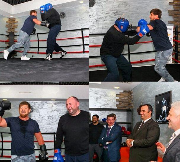 """Кадыров на ринге """"наказал"""" министра спорта Чечни"""