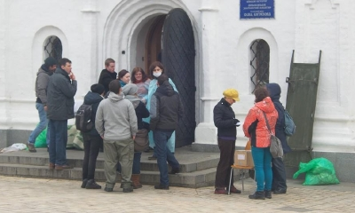 Михайловский монастырь принял более 200 пострадавших на Майдане