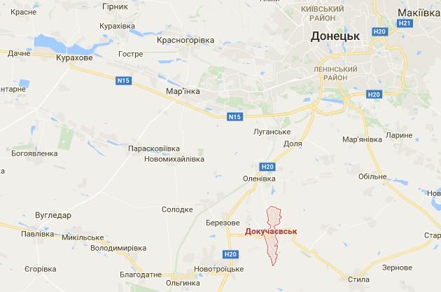 В Докучаевске боевики били из артиллерии 152 мм по тылу сил АТО
