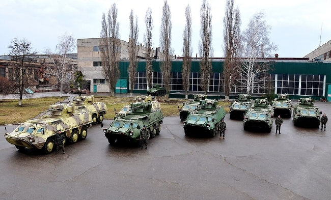 Национальная гвардия получит на вооружение новые украинские БТР