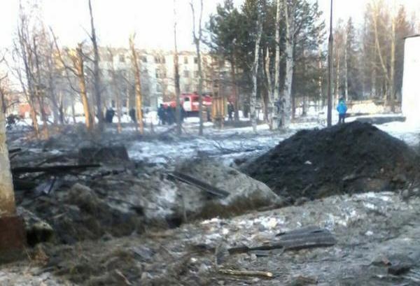 В России учебная ракета попала в жилой дом: фото