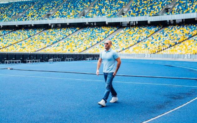 Джейсон Стэйтем приезжал на съемки рекламы в Киев - фото