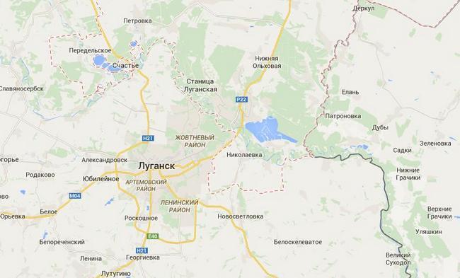 Боевики стягивают военную технику к Станице Луганской