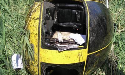 В Полтавской области упал вертолет, двое пострадавших