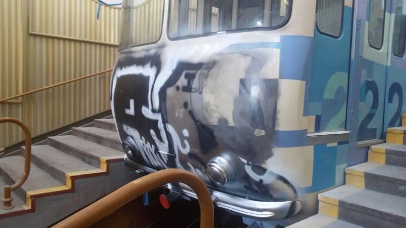 Открытие киевского фуникулера перенесли из-за приверженцев граффити