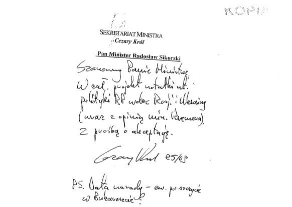 В Польше обнародованы сканы секретного документа о пророссийском курсе