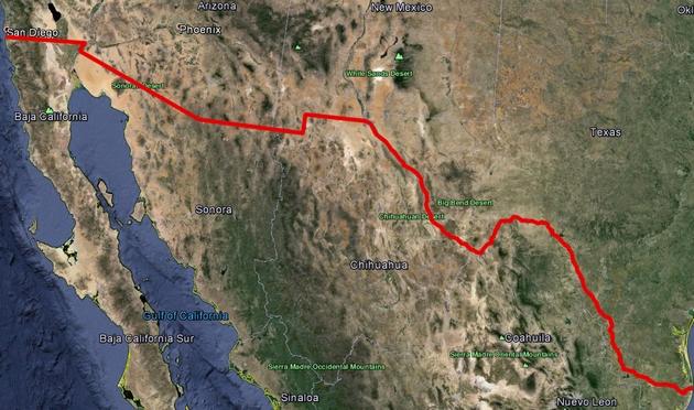 3000 км стены: Трамп заявил о начале отгорожения США от Мексики