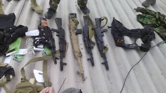 Задержанные в Мариуполе боевики готовили теракты: фото