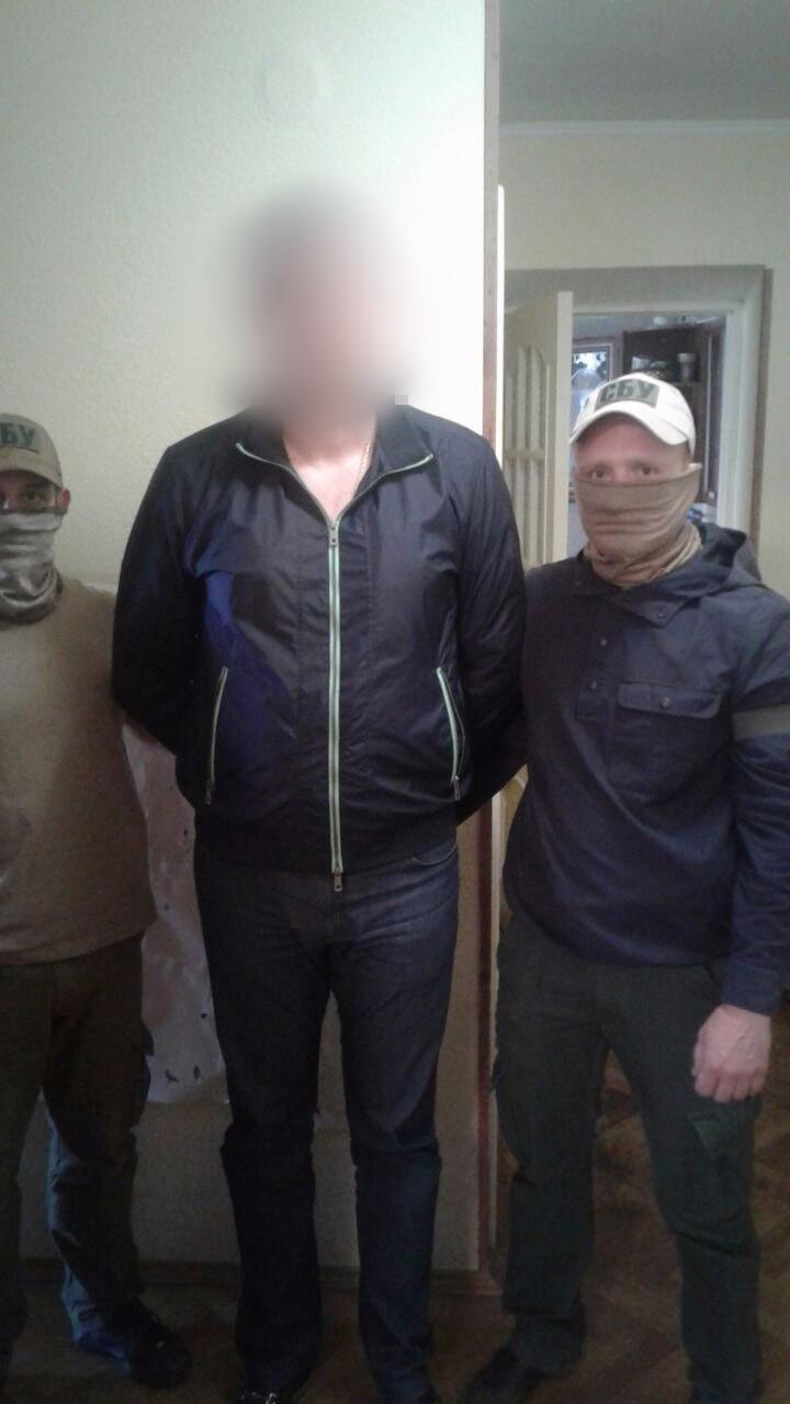 В Киеве задержан помогавший боевикам бизнесмен: фото, видео