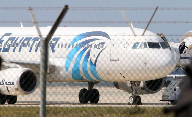 Угон египетского лайнера на Кипр: хроника событий