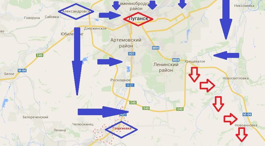Изгнание Беса. Силы АТО готовятся взять в кольцо Луганск и Донецк