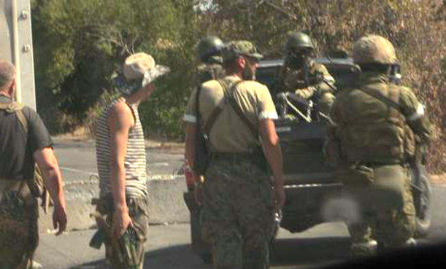 Sky News зафиксировал российских военных в Донбассе