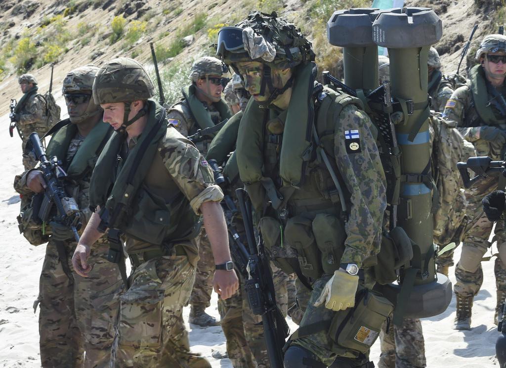 Финские войска отрабатывают навыки в ходе учений