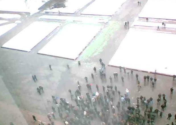 В Донецке проходит немногочисленный пророссийский митинг