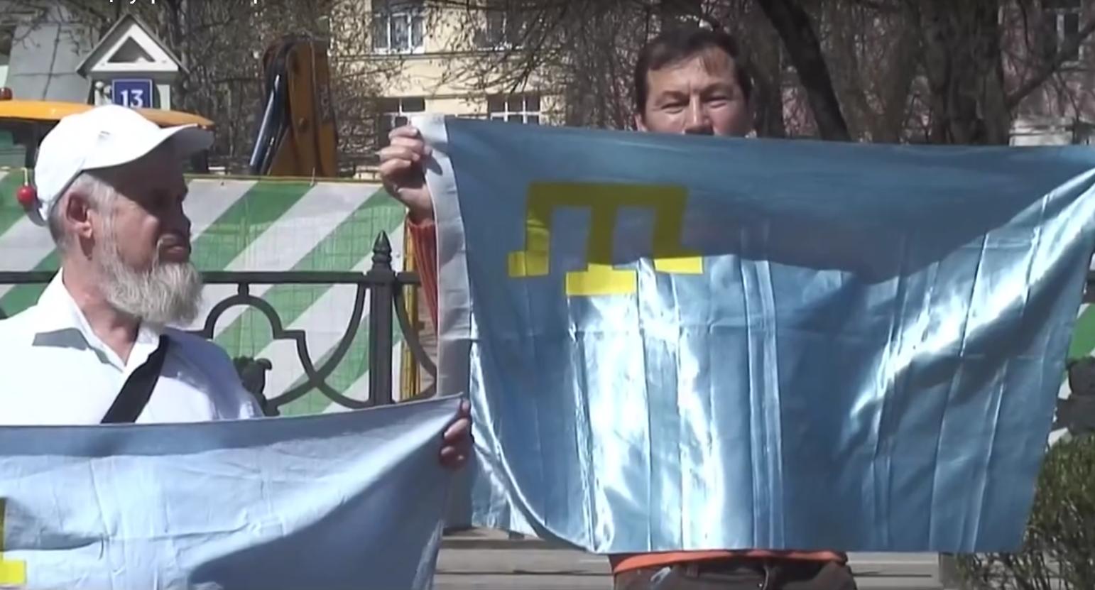 В Москве прошла акция в поддержку политзаключенных в Крыму