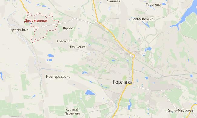 Горловские боевики обстреляли Дзержинск и обвинили Нацгвардию