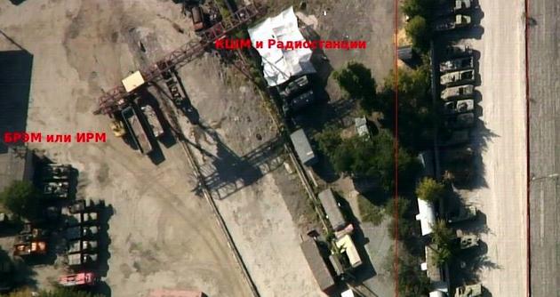 Волонтеры показали скопление военной техники в Донецке: аэрофото