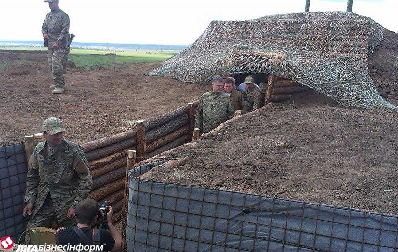 Линию обороны в Донбассе нужно закончить в июле - Порошенко
