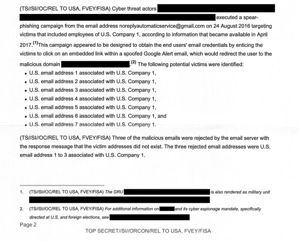 АНБ обвинило ГРУ вкибератаках наизбиркомы вСША