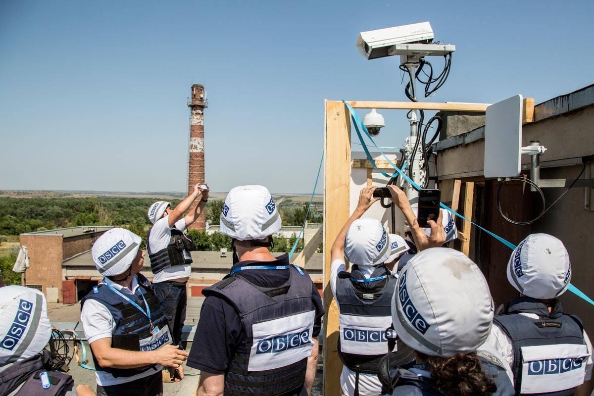 Проработала всего день: под Донецком уничтожили видеокамеру ОБСЕ