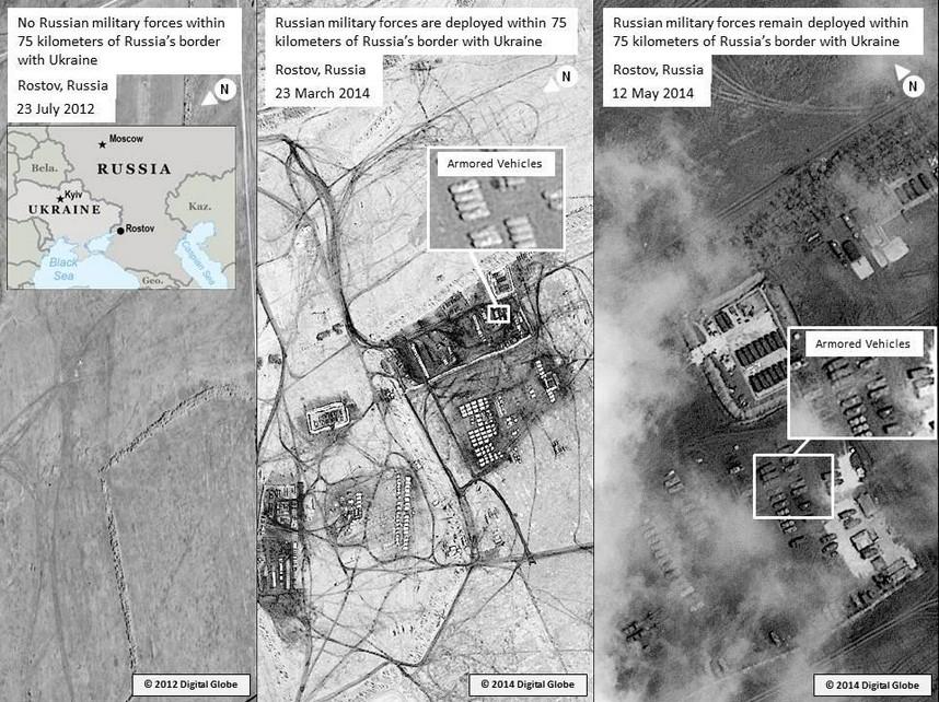США  показали новые фото российских войск на границе с Украиной