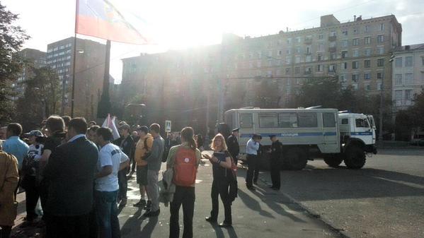 В Москве проведение Марша мира закончилось задержанием: фото