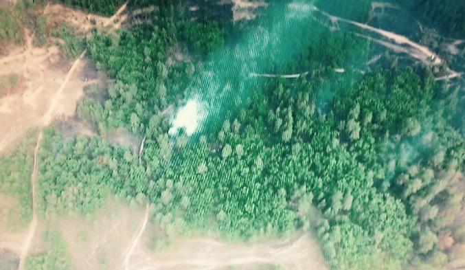 Под Днепром почти сутки тушат пожар на военном полигоне: фото