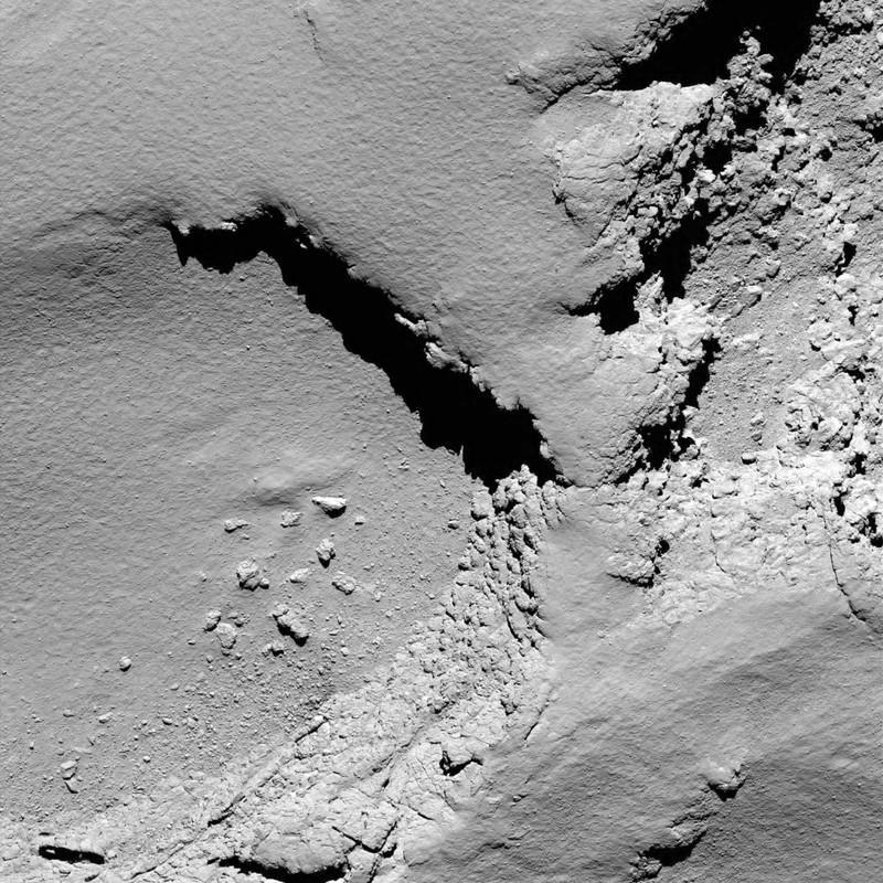 Розетта столкнулась с кометой и завершила свою миссию: фото