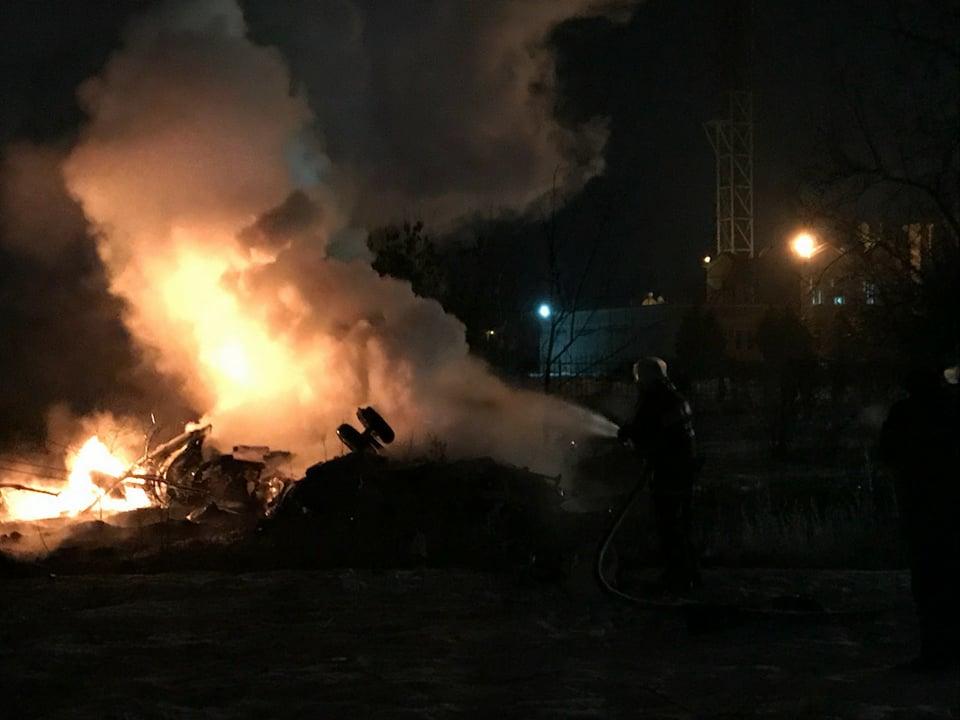 Крушение вертолета в Кременчуге: в ГСЧС уточнили количество жертв