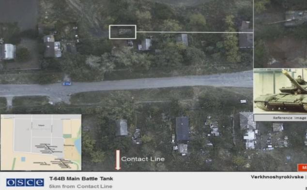 Наблюдатели ОБСЕ показали, как боевики лазером заслепляют камеру миссии