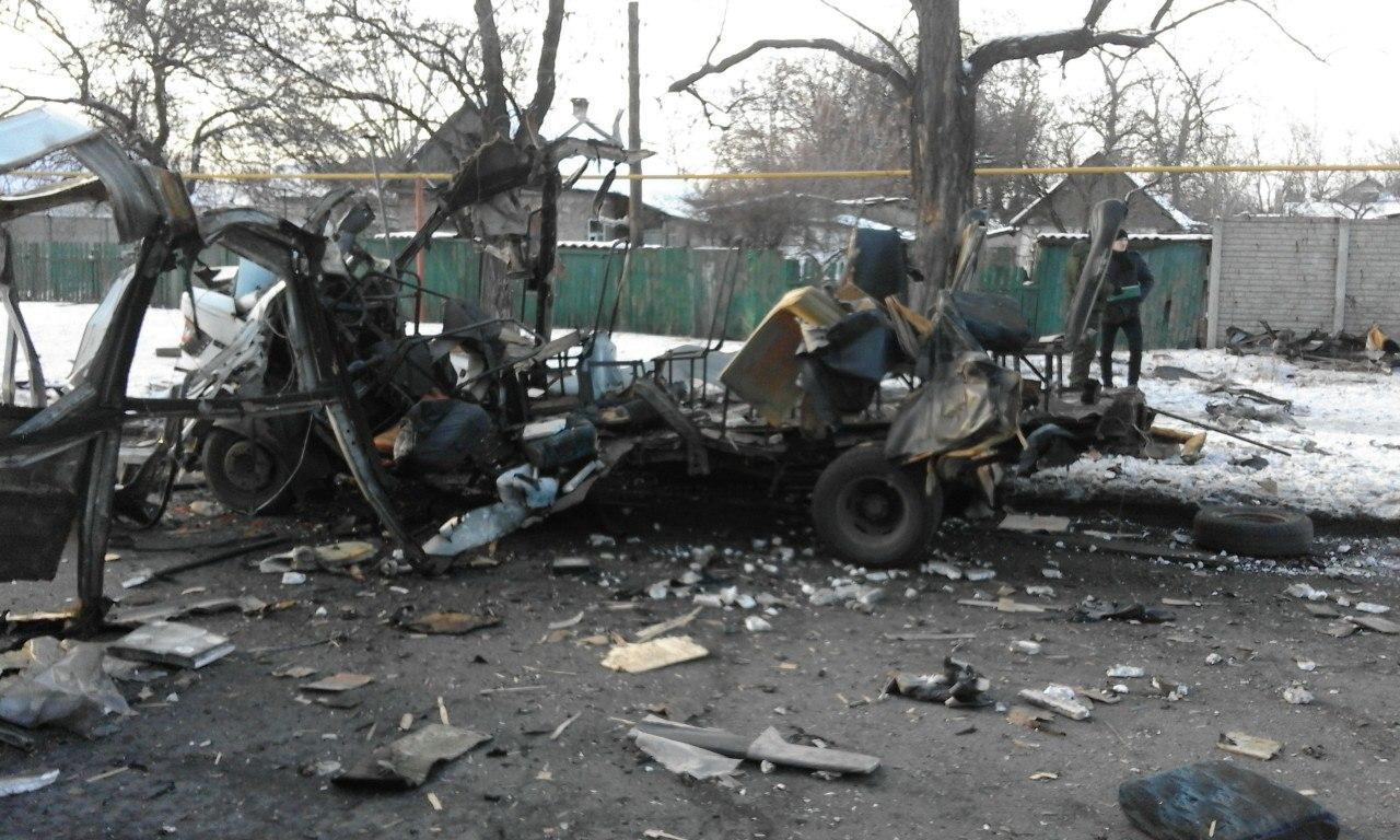 В центре оккупированного Донецка взорван автомобиль: фото