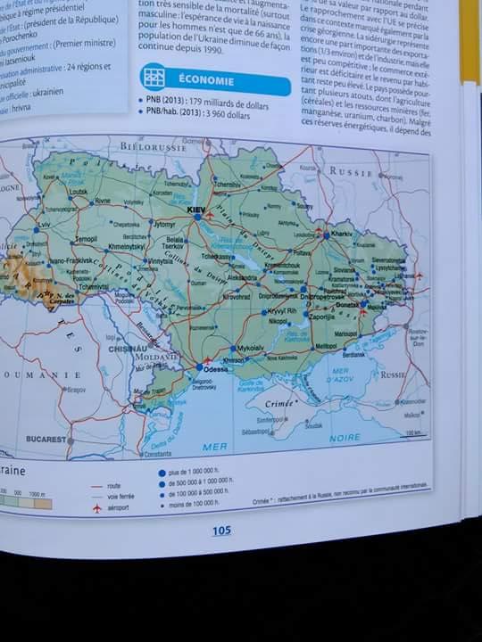Во Франции напечатали атлас, в котором Крым обозначен российским