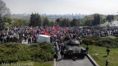 Коммунисты пытаются митинговать в городах Украины