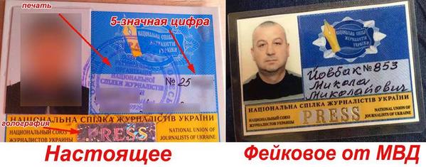 В Союзе журналистов назвали удостоверение Йовбака подделкой