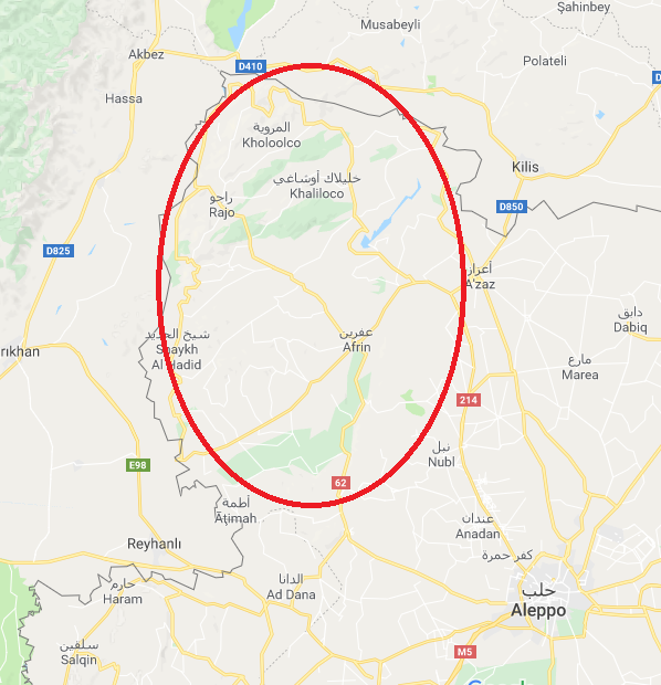 Турция атаковала лояльные Асаду силы в Африне: есть погибшие