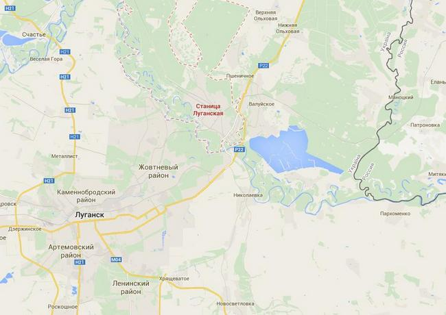 Боевики концентрируют военную технику в Станице Луганской