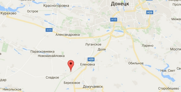 К югу от Донецка снайпер террористов ранил бойца ВСУ - карта АТО