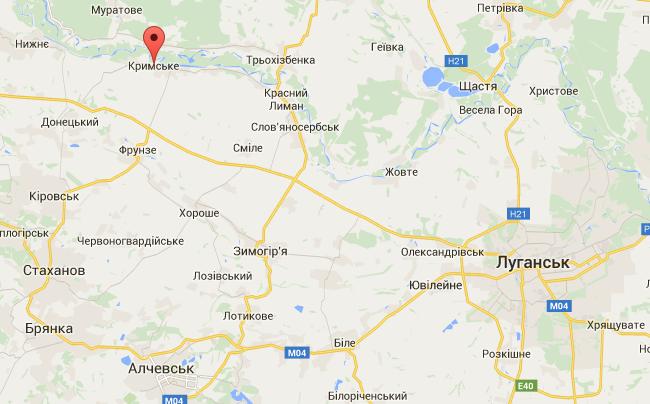 Селище Кримське на Луганщині зруйноване під вогнем бойовиків