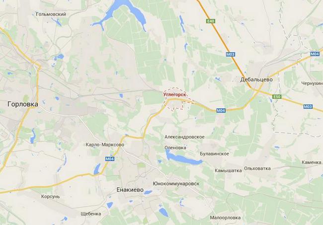 Возле Углегорска сосредоточены 400 боевиков с бронетехникой - ИС