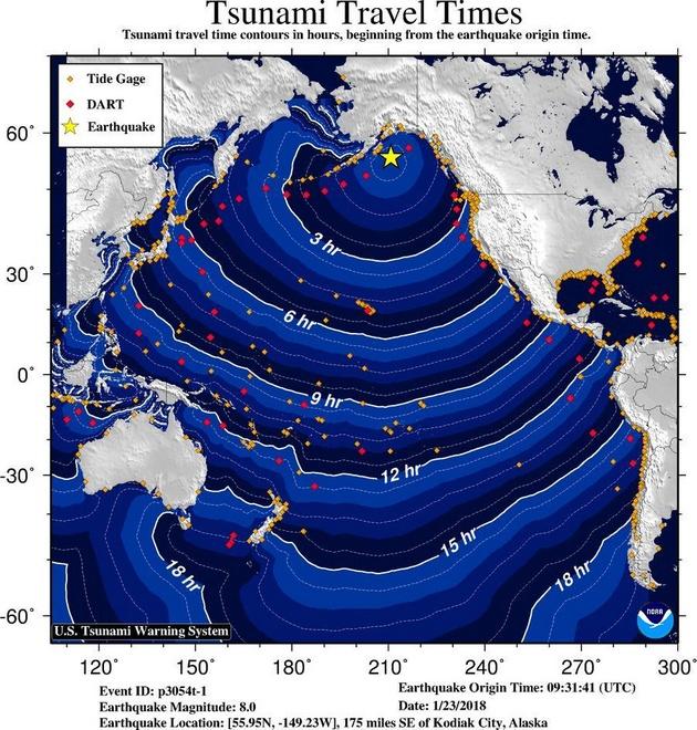 Аляску зацепило мощное землетрясение, объявлена угроза цунами