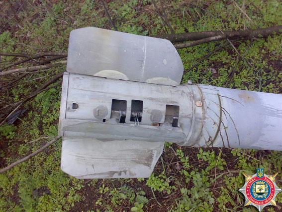 Под Славянском обнаружены снаряды от РСЗО Ураган: фото
